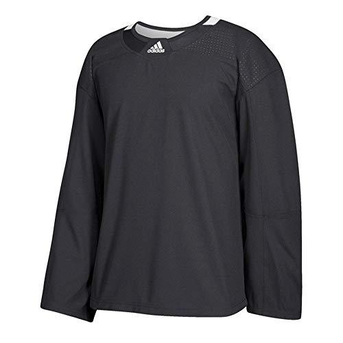adidas 3-Stripe Practice Jersey - Men's Hockey 56 Black/White