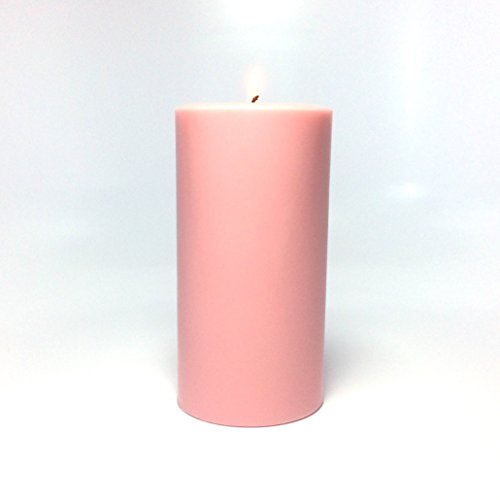 Light Pink Unscented Soy Wax Pillar Candle - Choose 4, 6, 9 Inches Tall