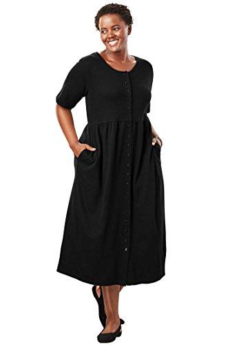 Plus Only Dress Size Women's Empire Knit Petite Necessities Black rfqE0pr