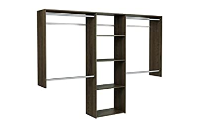 Easy Track OK1460-T 4 to 8 ft. Wide Closet Kit, Truffle