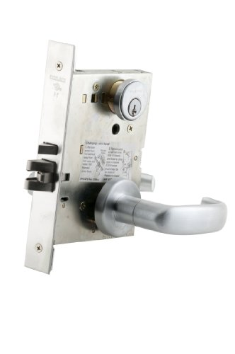 Schlage L9080P 17A 626 C123 Keyway Series L Grade 1 Mortise Lock, Storeroom Function, C123 Keyway, 17A Design, Satin Chrome Finish