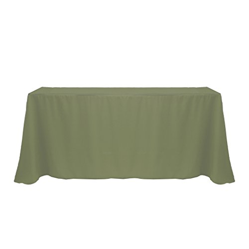 - Ultimate Textile 90 x 132-Inch Rectangular Polyester Linen Tablecloth Olive Green