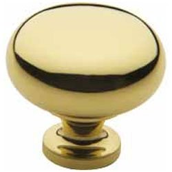 Classic Solid Brass Knob (Baldwin 4708 1-1/2 Inch Diameter Solid Brass Round Knob from the Classic Collect, Polished Brass)