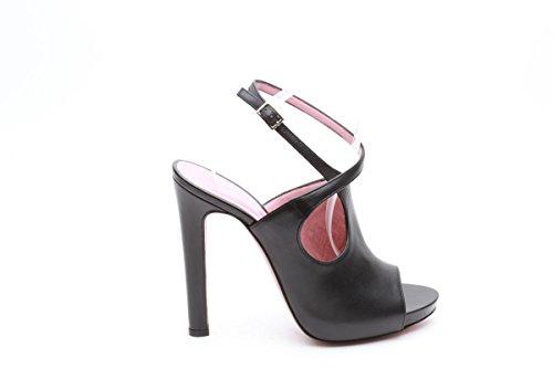 Wo milano sandali open toe tacco 12 nero