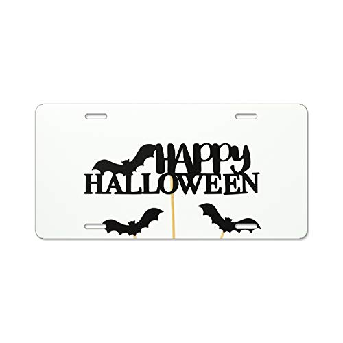 DREES Happy Halloween Vanity Front License Plate Tag Printed Full Color Decorate Your Car