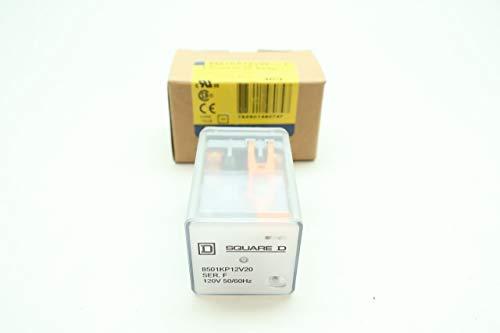 SQUARE D 8501KP12V20 Plug-in Relay 120V-AC SER F D657251