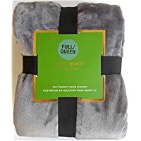Kate Spade New York Queen Fleece Blanket, 98 X 92 in, Gray By Kate Spade New York