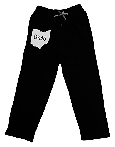 Original Clothing West Side - TOOLOUD Ohio - United States Shape Adult Lounge Pants - Black- Large