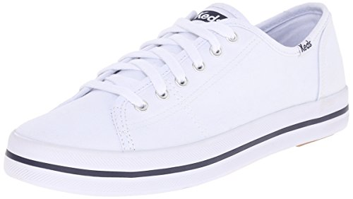 Keds Women's Kickstart Fashion Sneaker,White,8.5 M US ()