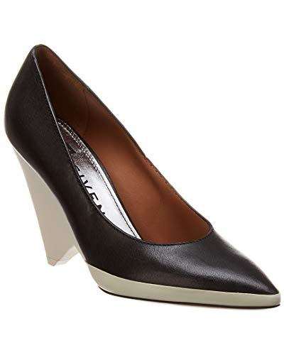 Givenchy Cone Heel Leather & Rubber Pump, 38, Black