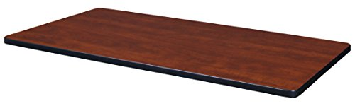 (Regency TTRC4224CHPL Rectangular Standard Table Top, 42 x 24, Cherry/Maple)