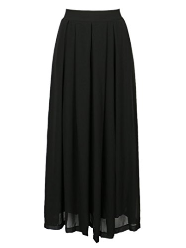 Choies Womens Black Casual Chiffon