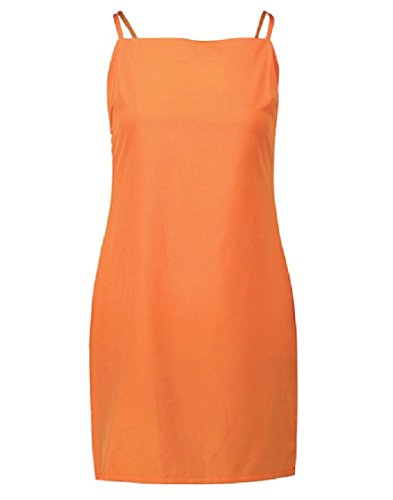 Backless Orange Coolred Bow Closure Hollow Dresses Women Sling Zipper Out 77qfxaHwUY