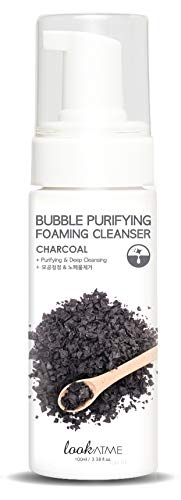 Look At Me Korean Skincare Bubble Purifying Charcoal Foaming Facial Cleanser | Daily Hydrating Face Wash for all Skin Types