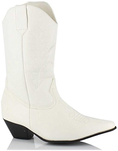 Ellie Shoes - Child Girl - Rodeo (White) Child Boots (Child Medium 13-1) - (Young Ellie Costume)