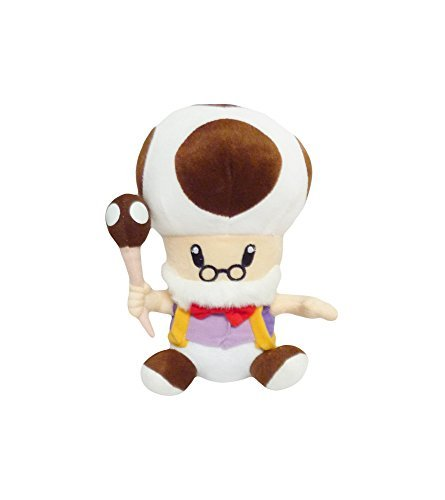 Mario Bro: 10-inch Mushroom Brown Toadsworth Plush Toad Doll - Mushroom Plush Doll