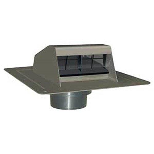 Duraflo 6013BL Roof Dryer Vent Flap, Black