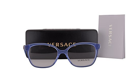 Versace VE3235B Eyeglasses 54-16-140 Transparent Blue w/Clear Lens 5225 VE - Frames Versace Eyeglass Rimless
