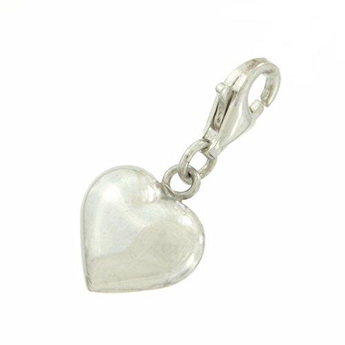 Heart 925 Sterling Silver Love Quality Clip on Bracelet Charm