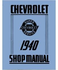 Download 1940 Chevrolet Chevy Car Truck Shop Service Repair Manual 40 (with Decal) pdf