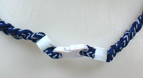NEW! Youth Size Sports Farm Custom Clasp Tornado Necklace - Navy Blue Baseball Stitch (White Clasp)