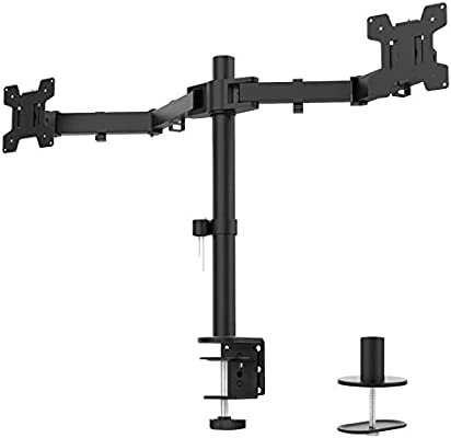 WALI Single LCD Monitor Desk Mount Stand Fully Adjustable Fits One Screen up to