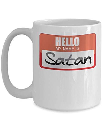 My Name Is Satan Devil Worshipper Devil Horns Lucifer Diablo Halloween Costume Trick or Treat Gift Mug| Halloween Costume Idea -