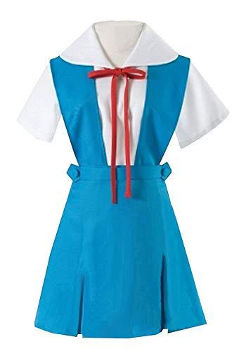 LYLAS Women's Blue School Uniform Strap Dress