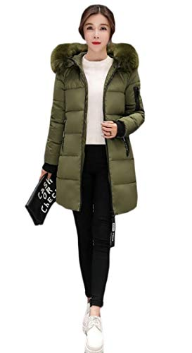 security Womens Long Sleeve Thicker Down Coat Hooded Outwear 6