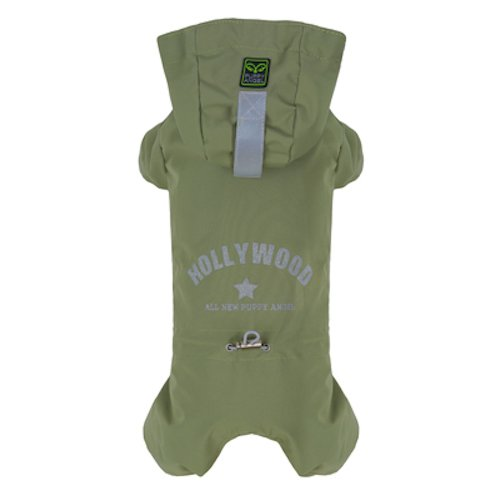 PuppyAngel Multi Protect Bodysuits Raincoat, XX-Large, Green by Puppy Angel