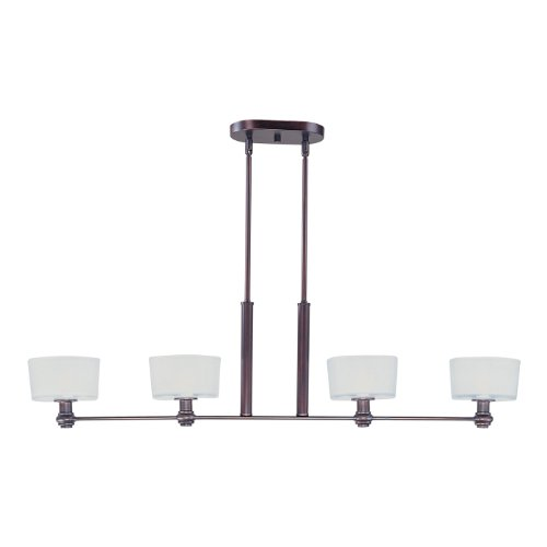 Maxim Lighting 22168FTOI Discus 4-Light Island Pendant, Oil Rubbed Bronze Finish with Frosted Glass