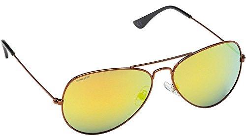 Cressi Nevada - Lunettes de Soleil Haute Qualité - Différents Couleurs - Polarisées Antireflet avec Protection UV Cooper/Lentilles Jaune
