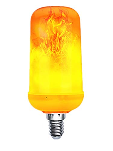 Light 60w Lamp 1 Bulb (1-Pack LED Flame Effect Light Bulb Fire Flickering Flaming Lamp Indoor Outdoor Lighting 7W E12(Candelabra Base) Decorative Lights for Antique Lanterns/Home/Bar/Party/Garden/Hotel Decor)