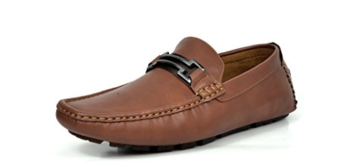 BRUNO MARC MODA ITALY HUGH-01 Men's Classy Fashion On The Go Driving Casual Loafers Boat shoes Brown Size 10