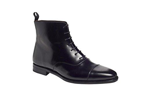 Botas De Vestir Oxford De Hombre De La Tapa De Anthony Veer Para Hombre En Piel De Primera Calidad Goodyear Welted Construction Black