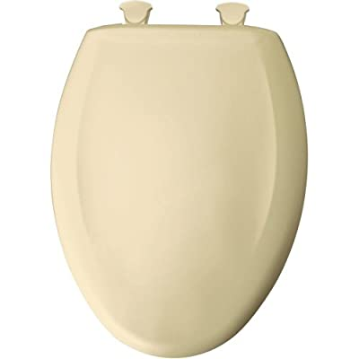 Bemia|#Bemis 1200SLOWT 341 Slow Close Sta-Tite Elongated Closed Front Toilet Seat, Jersey Cream,