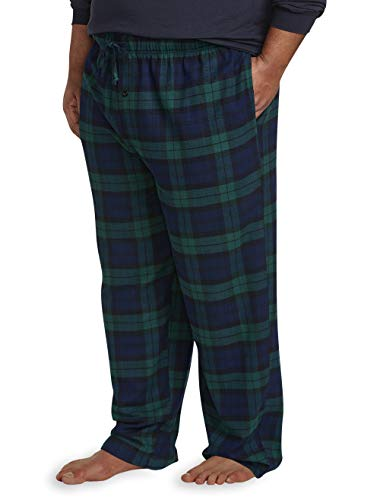 Amazon Essentials Men's Big & Tall Flannel Pajama Pant fit by DXL, Blackwatch Plaid, 5X ()