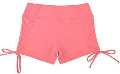 レディースジャージ上下セット 女性スポーツウェアワークアウトアスレチックジョギングビキニショーツ (色 : ピンク, サイズ : M)