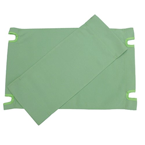 Zew Replacement UV Treated Color Durable Canvas for Bamboo Folding Directors Chairs, Celadon -