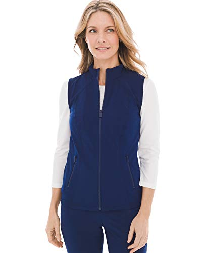 Chico's Women's Zenergy Neema Knit-Inset Vest Size 8/10 M (1) Blue