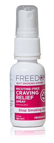 Freedom Quit Smoking, Nicotine Craving Relief Spray – Quit Smoking Naturally Now – Reduce Cigarette Cravings, Fight Nicotine Withdrawal Symptoms, An Easy Way to Quit Smoking Cigarettes Without Side Effects – An All Natural & Nicotine Free Stop Smoking Aid, 1 Oz - Nicotine Replacement