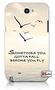 Sometimes You Gotta Fall Before You Fly Hipster Quote Premium Samsung Galaxy S5, S 5 Quality PVC Hard Plastic Cell Case for Samsung Galaxy S5, S 5 - AT&T Sprint Verizon - White Case wangjiang maoyi