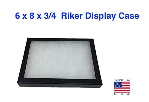 Southern Star Riker Display Case 6 x 8 x 3/4 for Collectibles Jewelry Arrowheads & More
