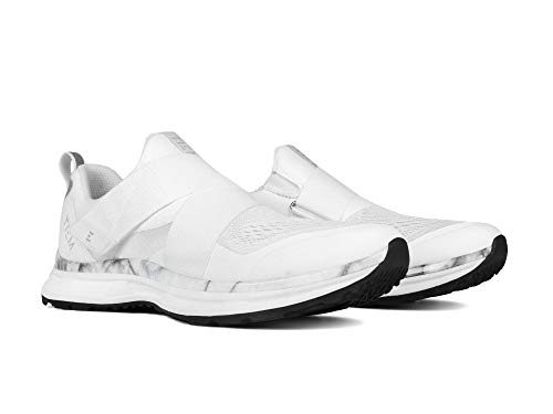 TIEM Slipstream - White Marble - Indoor Cycling Spin Shoe, SPD Compatible (Women's Size 8.5)