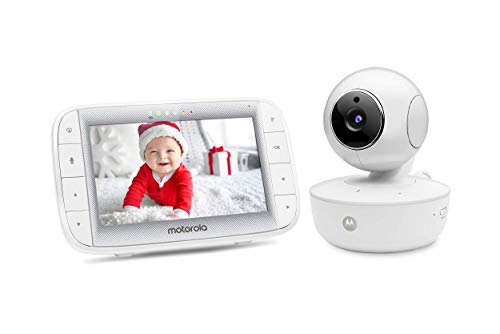 Motorola Video Baby Monitor 5 Color Parent Unit Remote Pan Tilt Zoom Portable Rechargeable Camera Two Way Audio Night Vision 5 Lullabies Mbp36xl