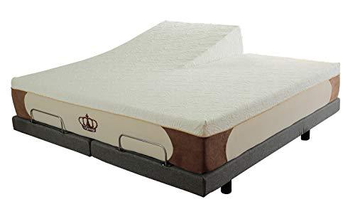 Dynastymattress New Cool Breeze 12 Inch Hd Gel Memory Foam Mattress For Adjustable Beds Split Head King