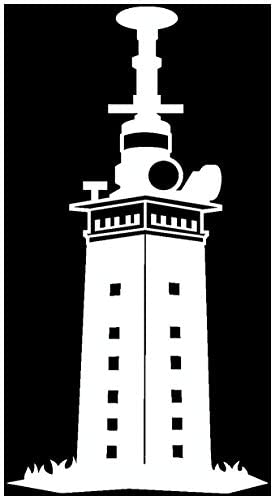 Samunshi Leuchtturm Helgoland Aufkleber In 7 Größen Und 25 Farben 11x20cm Weiß Küche Haushalt