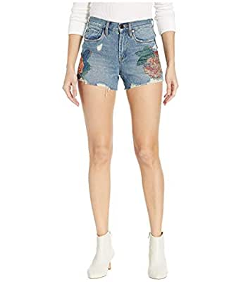 [BLANKNYC] Blank NYC Women's The Barrow High-Rise Floral Detail Shorts in Wild Flower - White - 24