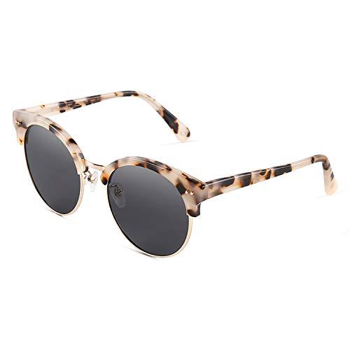 Women Polarized Sunglasses Round Sun Glasses Luxury Spectacles Summer Driving 9633,White tortoiseshell