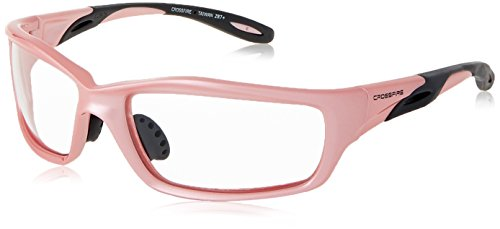 Crossfire Safety Glasses Infinity Clear Lens Full Pearl Pink